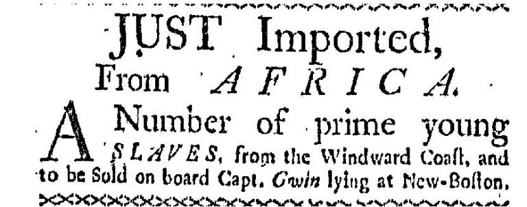 Boston Gazette Advertisement